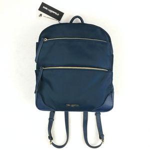 Karl Lagerfeld NEW NWT Navy Nylon Backpack
